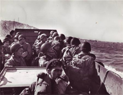 The Big Red One Men in Landing Craft Approach Shore on D Day June 6, 1944